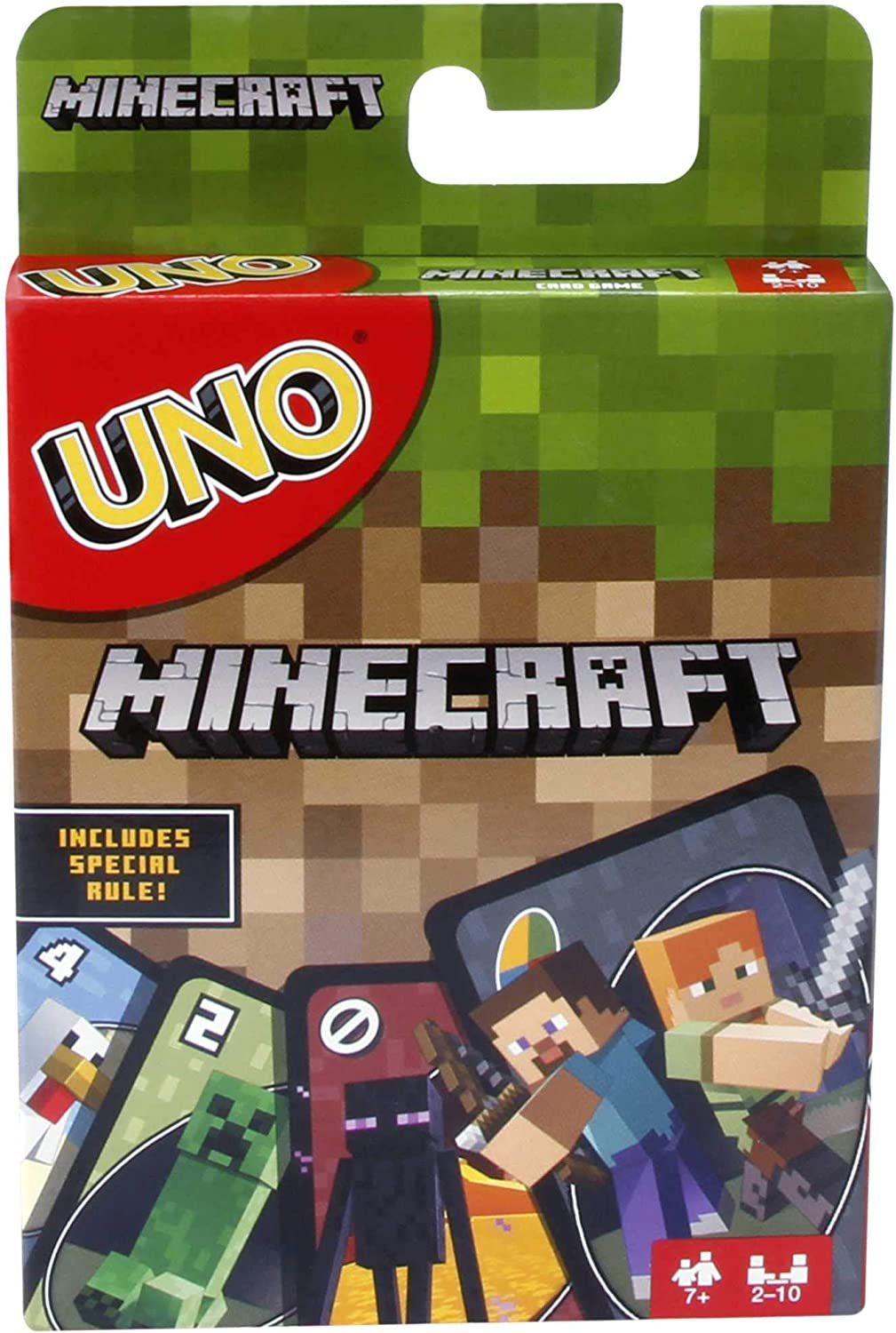 UNO Minecraft Card Game Fun Mattel Family Game Kids Age 8 And up Brand New