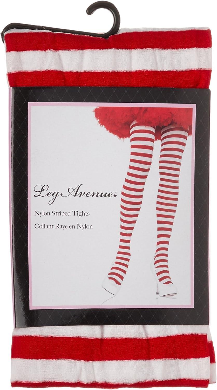 Oversize Calze a Righe Leg Avenue 7100Q Bianco // Rosso