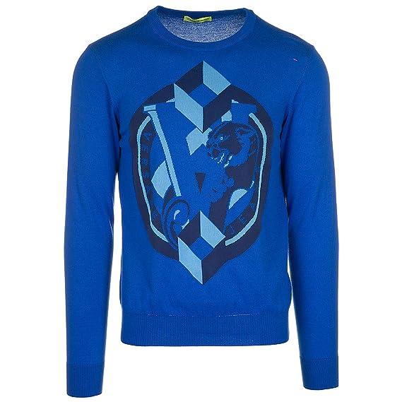Versace Jeans Pull Homme blu M  Amazon.fr  Vêtements et accessoires cba63e90a13