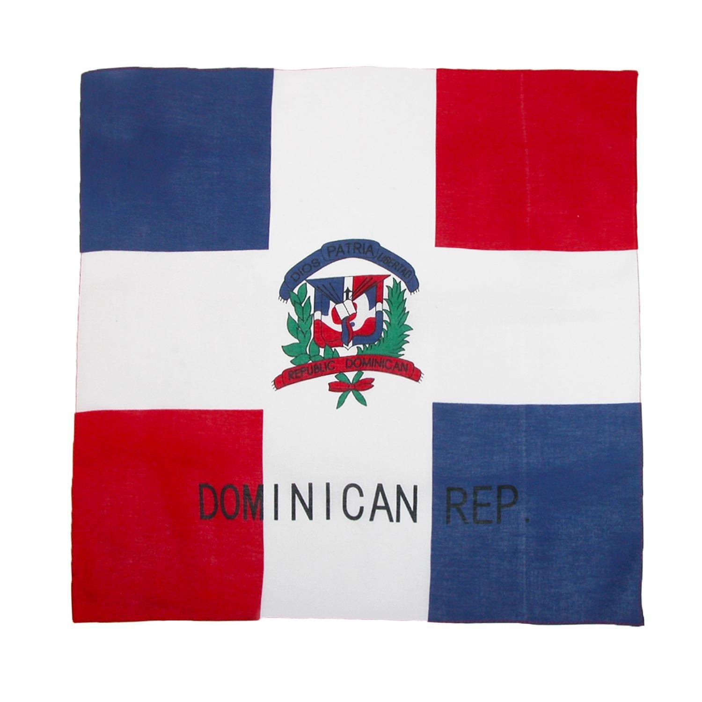 CTM Bandanas de bandera dominicana de algodó n para hombre IH-DOMINICAN-MUL