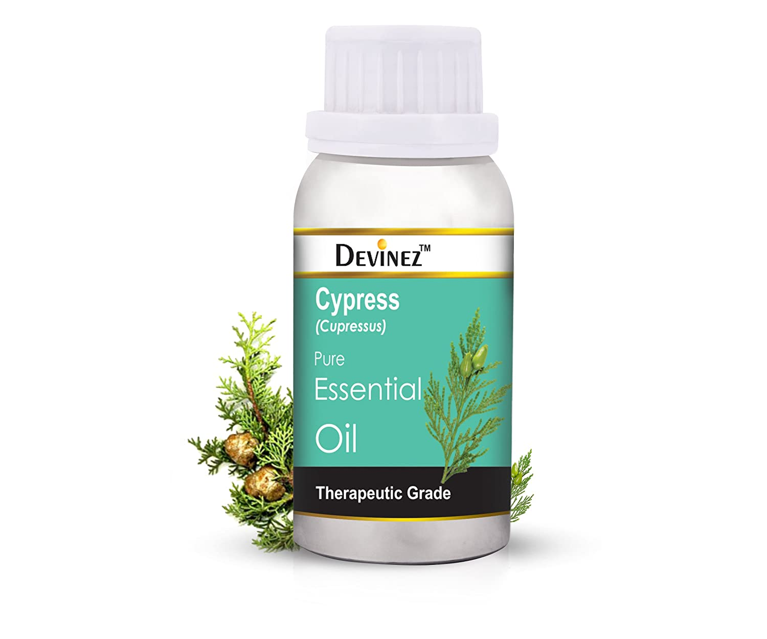 Devinez Cypress Essential Oil, 100% Pure, Natural & Undiluted, 1000ml in Anodized Aluminum Bottle