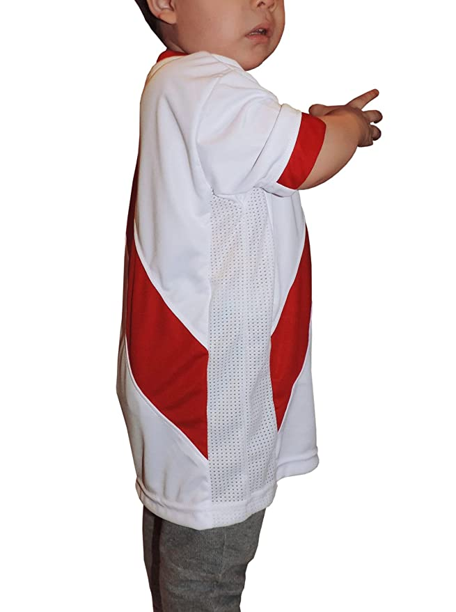 Amazon.com: Ama Quella Crafts Peru Soccer Jersey Replica For Kids, White. Russia World Cup 2018 Qualifiers. Camisetas Seleccion Peruana de Futbol (3-20 ...