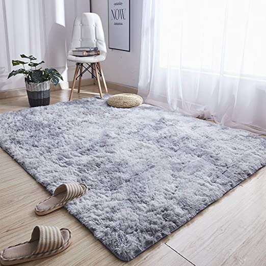 Amazon.com: Noahas Abstract Shaggy Rug for Bedroom Ultra Soft Fluffy Carpets for Kids Nursery Teens Room Girls Boys Thick Accent Rugs Home Bedrooms Floor Decorative, 4 ft x 6 ft, Light Grey: Kitchen & Dining