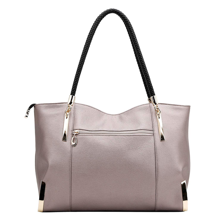 Chibi-store Brand Womens Cow Leather Handbags Female Shoulder bag designer Luxury Lady Tote Large