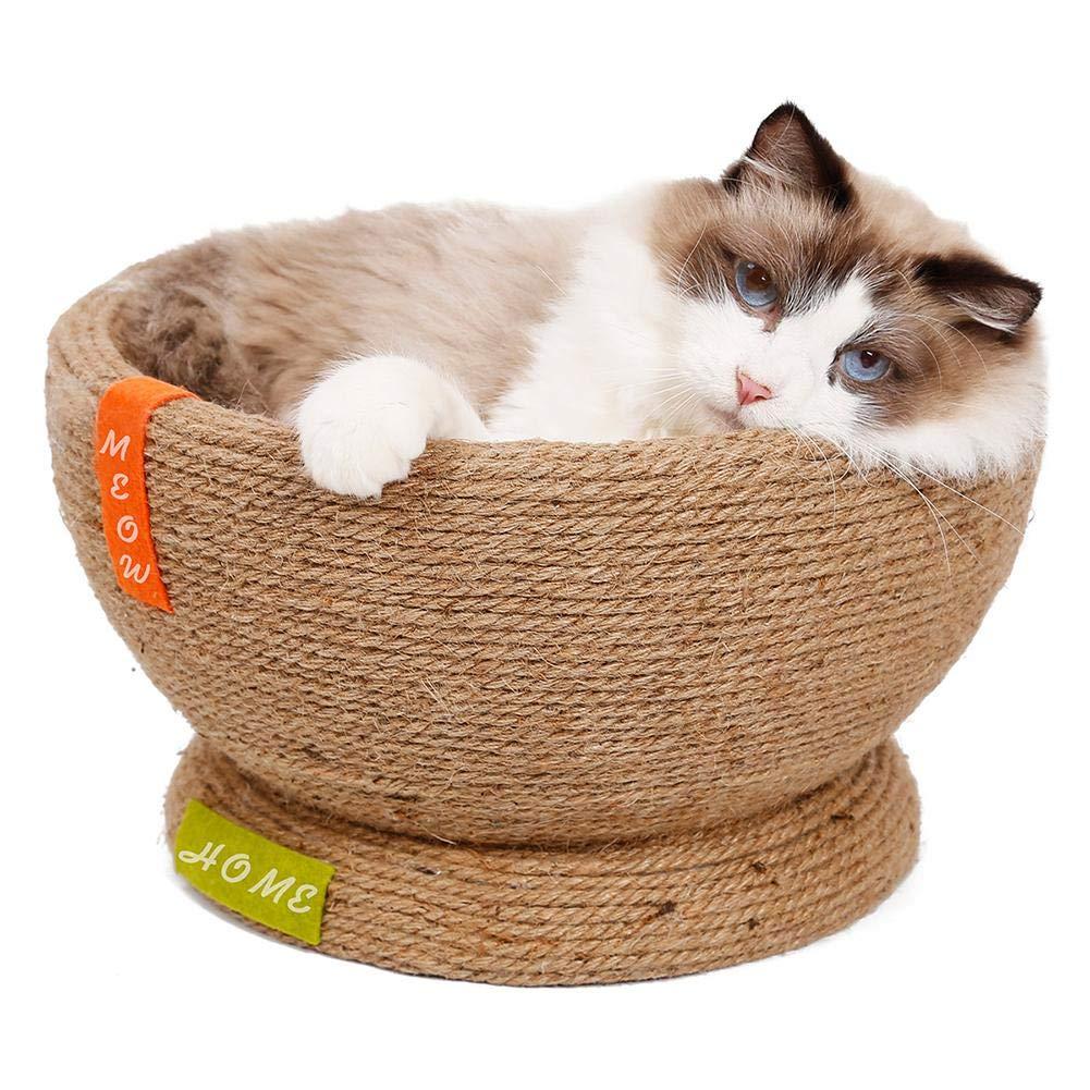 Domiluoyoyo Large Cat Scratch Board Cat Scratch Bowl , Little DIY Pet House