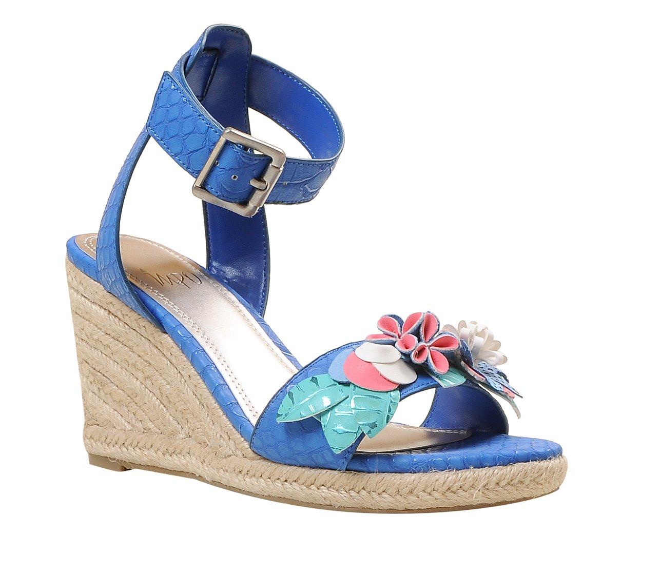 Impo TYLEEN Wedge Sandal, Cobalt Blue/Multicolor B07B9N28F7 6.5 B(M) US Cobalt Blue/Multicolor