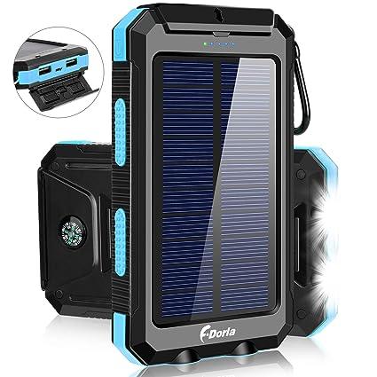 Amazon.com: Cargador solar de 20000 mAh, cargador portátil ...