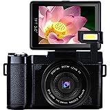 Digital Camera Vlogging Camera Full HD1080p 24.0MP Camcorder 3.0 Inch Flip Screen Camera with Retractable Flashlight (A1)