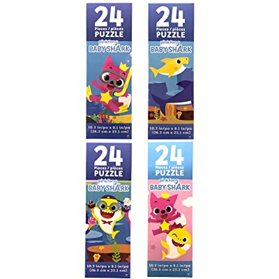Baby Shark 4 Pack of 24 Piece Puzzles: Toys & Games