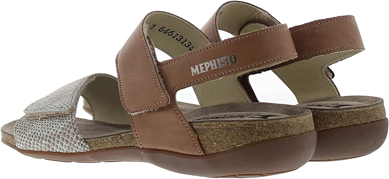 Mephisto Womens Agave Leather Sandals Camel