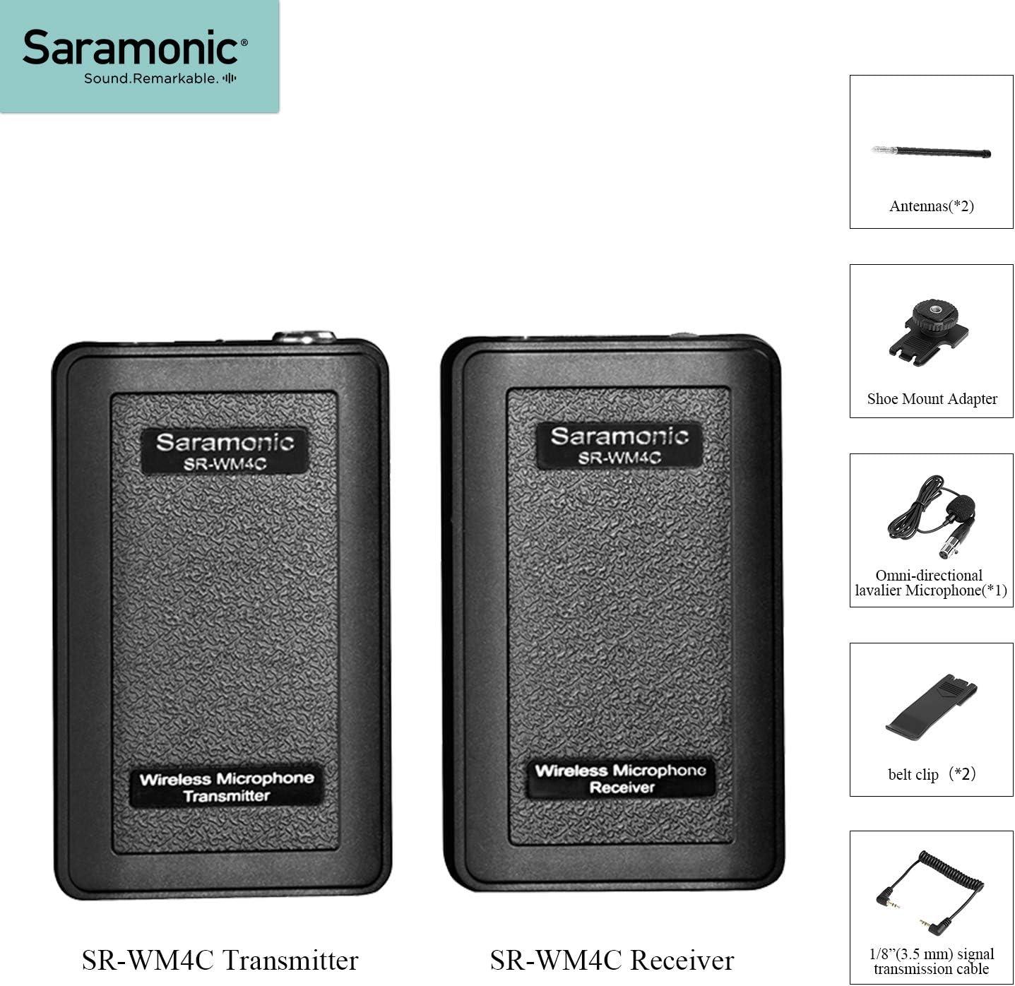 Saramonic SR-WM4C Micrófono Lavalier VHF inalámbrico para IOS ...