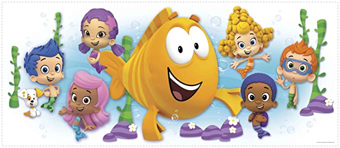 RoomMates RMK2774GM Bubble Guppies Character Burst Peel and Stick ...