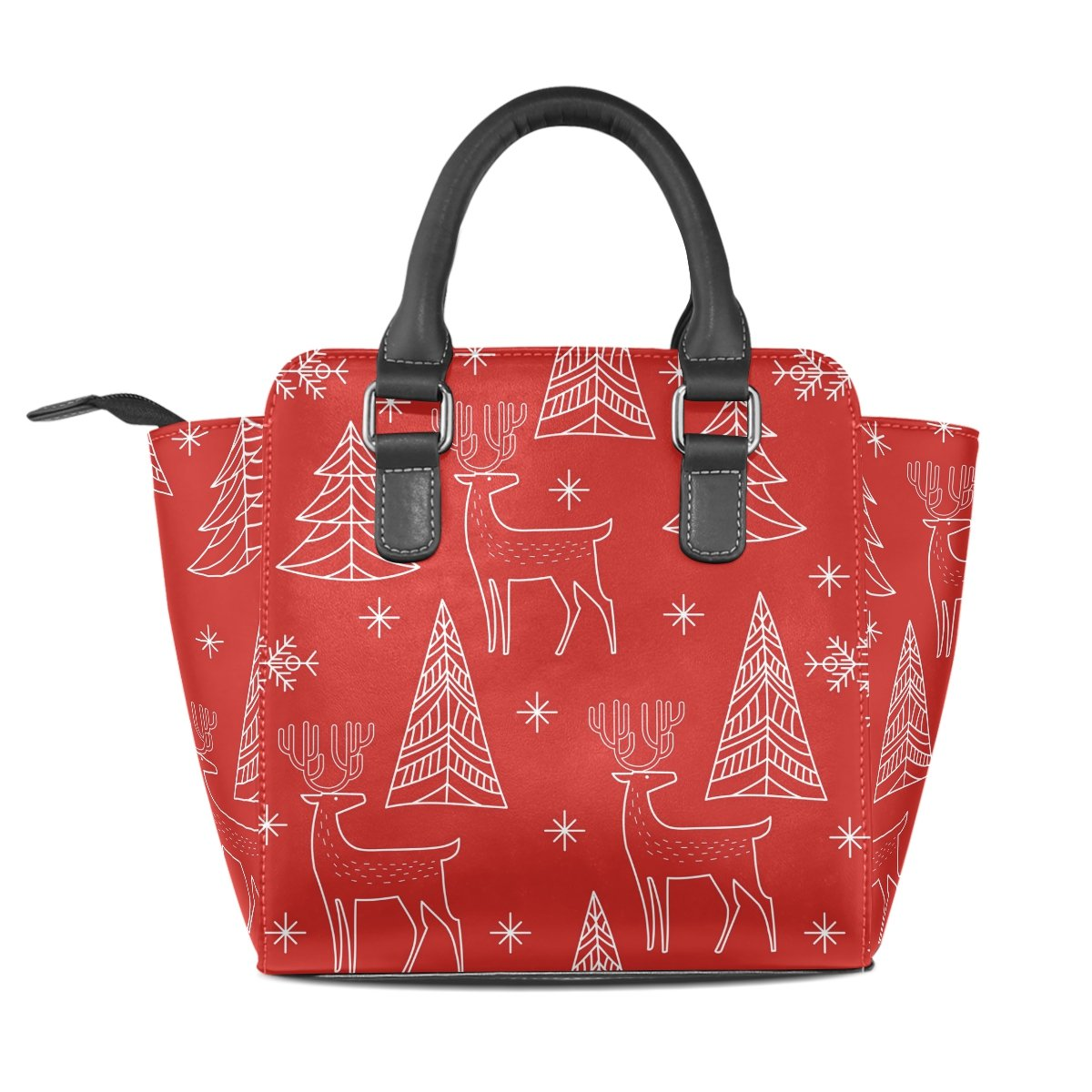 4699e442e6ba Amazon.com: Use4 Women's Cartoon Deer Christmas Tree Red Rivet PU ...