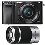 Sony Alpha a6000 Camera with 55-210mm and 16-50mm Power Zoom Lenses - Silver
