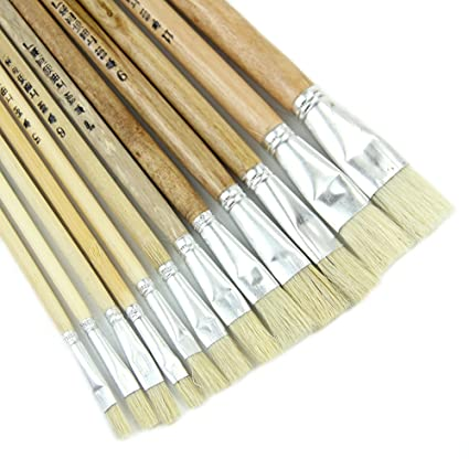 High Quality 12 Paint Brush Set for Oil Watercolor Acrylic Craft Artist Painting