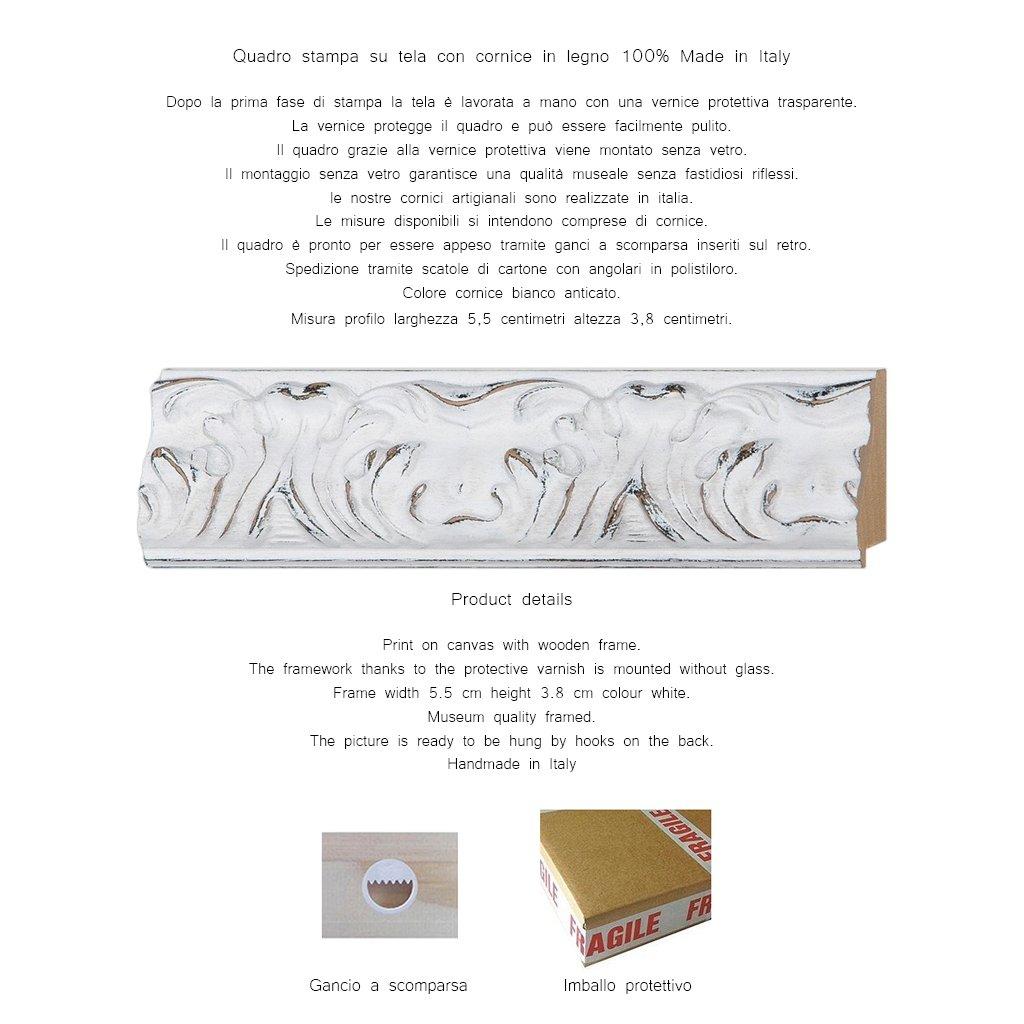 LuxHomeDecor Rahmen Druck Druck Druck auf Leinwand mit Holzrahmen Pierre Adrien chabal-dussergey rot und weiß blühender Oleander 133x103 CM Cornice Gold Classico B07D5GZRWC | Meistverkaufte weltweit  76210e