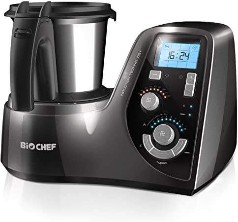 BioChef MyCook – Robot de cocina por inducción, Procesador de alimentos, Todo en uno, 1000W y 3 Años de Garantía (Plata): Amazon.es
