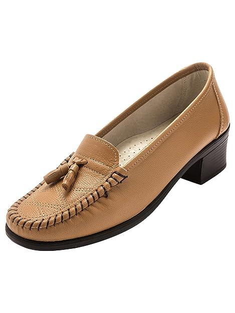 Pediconfort - Mocasines Mujer, marrón (marrón claro), 36 EU