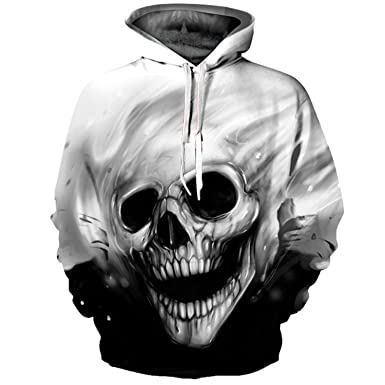 Men WomenAutumn Winter Skull Brand Hooded Sweatshirt 3D Hoody Tops Hoodies Men S
