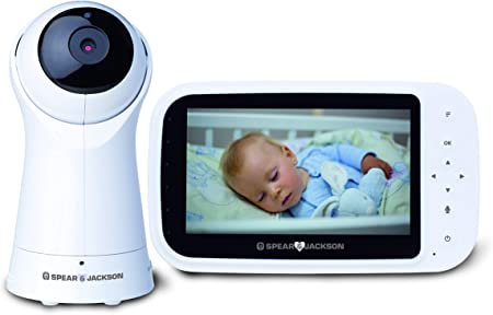 Two Way Talk Night Mode Spear /& Jackson Video Baby Monitor with Camera Temperature Sensors Lullaby Music Pan Tilt and Zoom Outdoor Mode with 250m Range