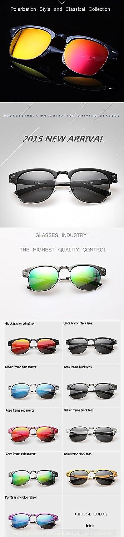 Gray Frame Green Mirror 2015 Aluminium Mens Vintage Polarized Sunglasses Womens Retro Wayfarer Glasses