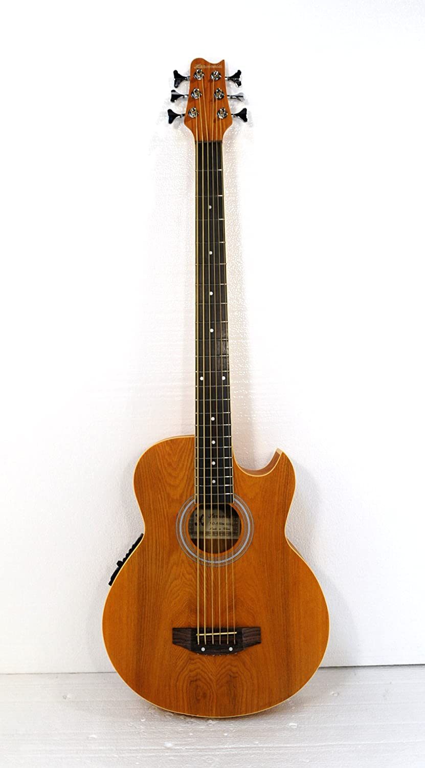 6 String Acoustic Electric Cutaway Bass Guitar Jisheng 090/66MQ-F6-Y