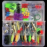 Coromose Fishing Lure Set Multifunctional Fishing Lure Fake Bait Artificial Fishing Hook Kit