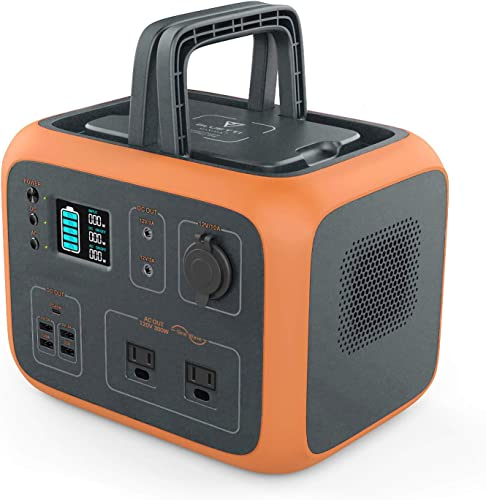 MAXOAK Power Station 500Wh Solar Generator Bluetti AC50 Wireless Charging Battery Backup for Outdoor Tailgating Camping RV Trip Power Outage Dual AC Outlet,Pure Sine-Wave,PD 45W USB-C, LED Lighting