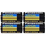 Panasonic CR123 CR123A 3V Lithium Battery (4 Pack)