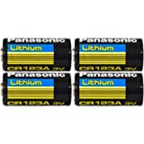 Panasonic CR123A Lithium 3V Photo Lithium Batteries, 0.67' Dia x 1.36' H (17.0 mm x 34.5 mm), Black, Gold, Blue (Pack of…