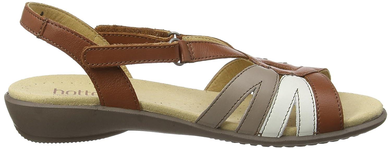 Hotter Damen Keilabsatz Flare EXF Offene Sandalen mit Keilabsatz Damen Braun (Tan Multi 131) 53b3b6