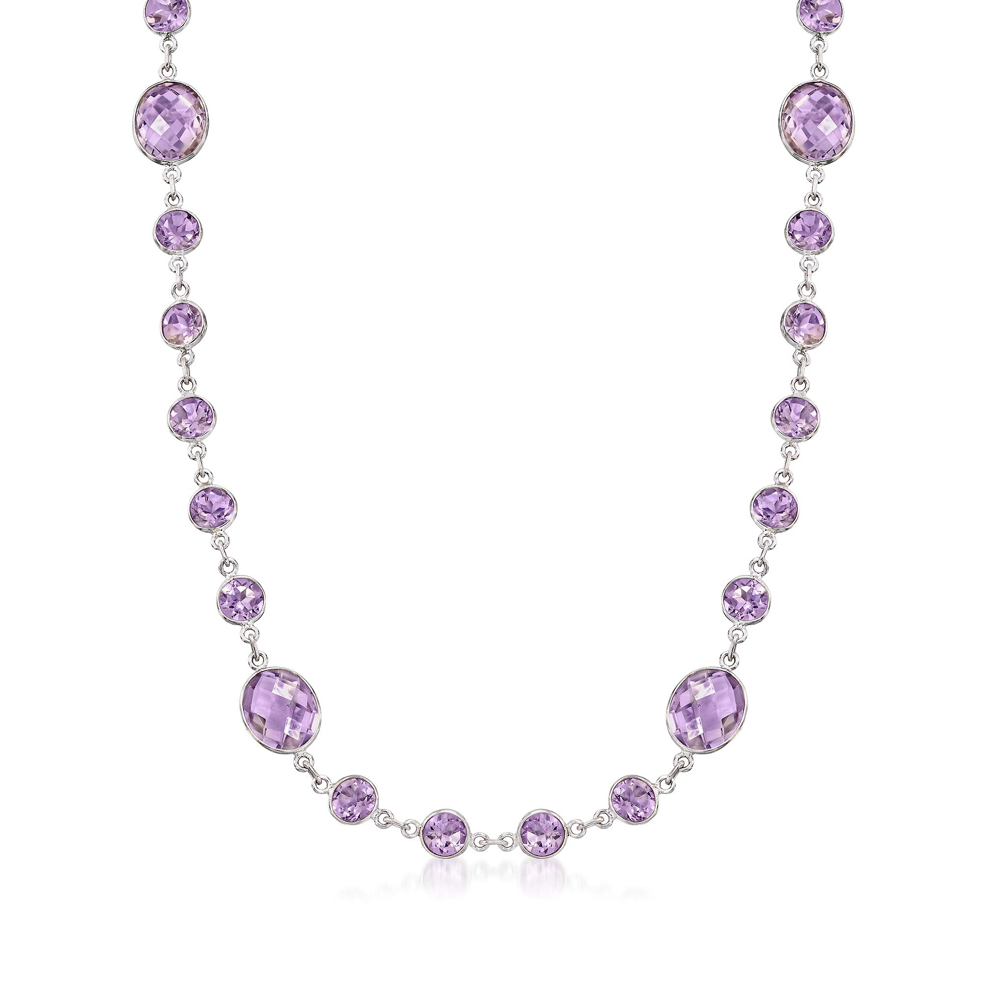 Ross-Simons 50.00 ct. t.w. Amethyst Necklace in Sterling Silver by Ross-Simons (Image #1)