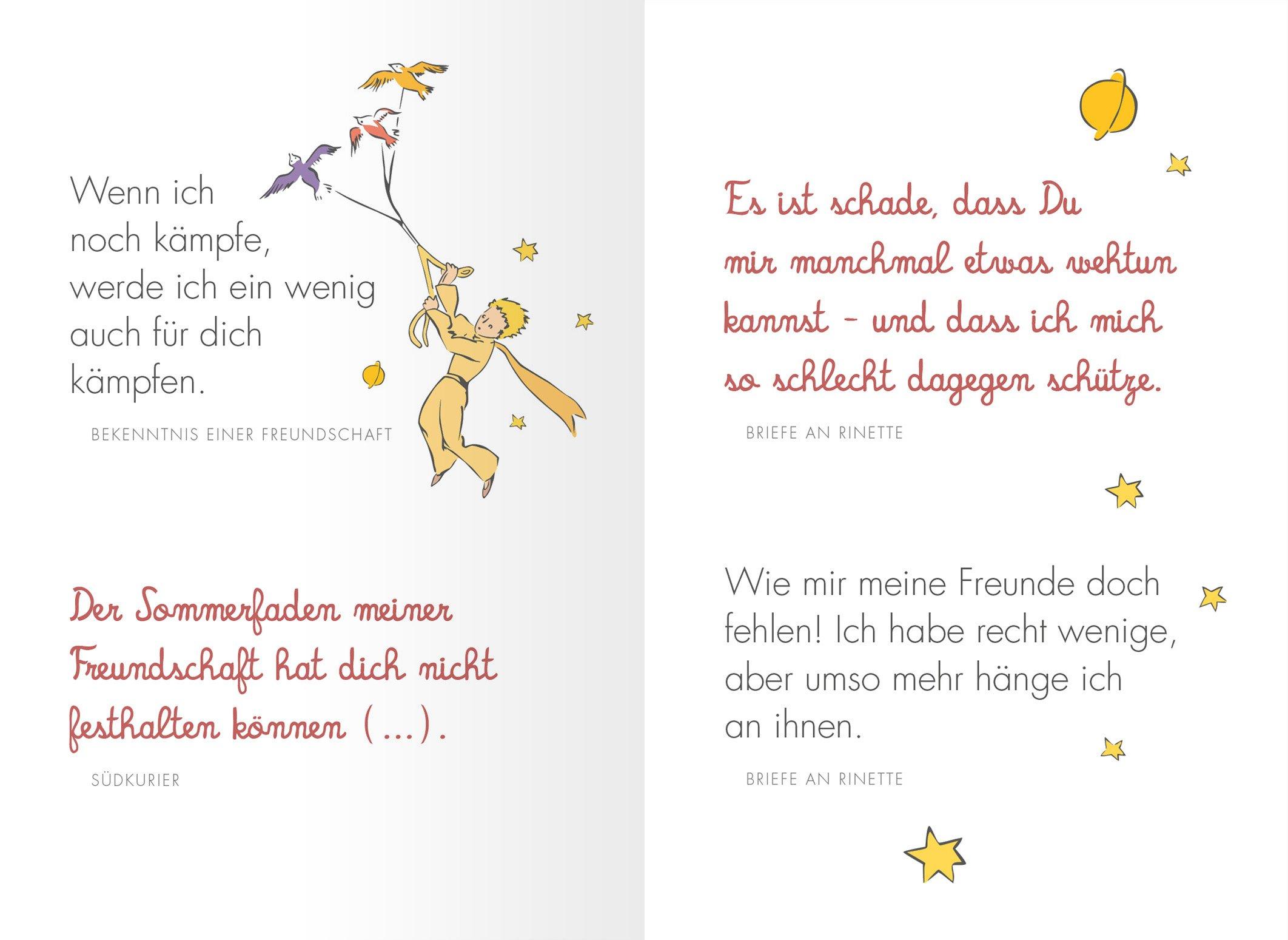 Freundschaft Schonsten Zitate Von Antoine De Saint Exupery Amazon De Antoine De Saint Exupery Ba C Bccher