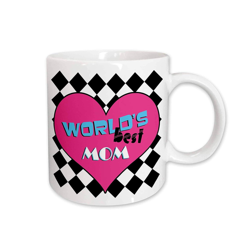11-Ounce 3dRose Worlds Best Mom Mug