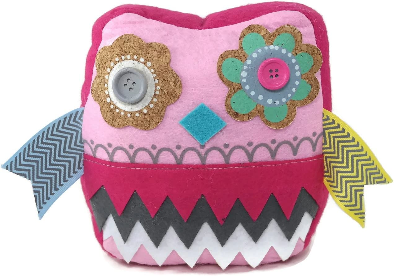 Demasa Owl Flower Patterned Fabric Weighted Door Stop Doorstopper Pink Arts Crafts Sewing