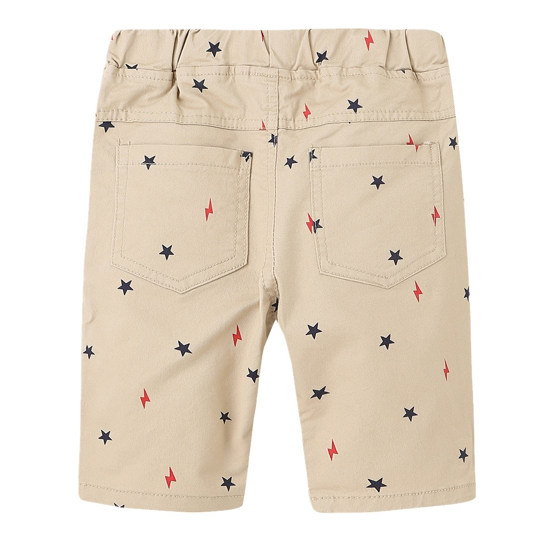 Sooxiwood Little Boys Shorts Casual Stars Pocket Size 6 Khaki