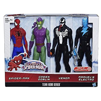 Marvel Ultimate Spider-Man Titan Hero Series Spider-Man Vs Villains Showdown Pack