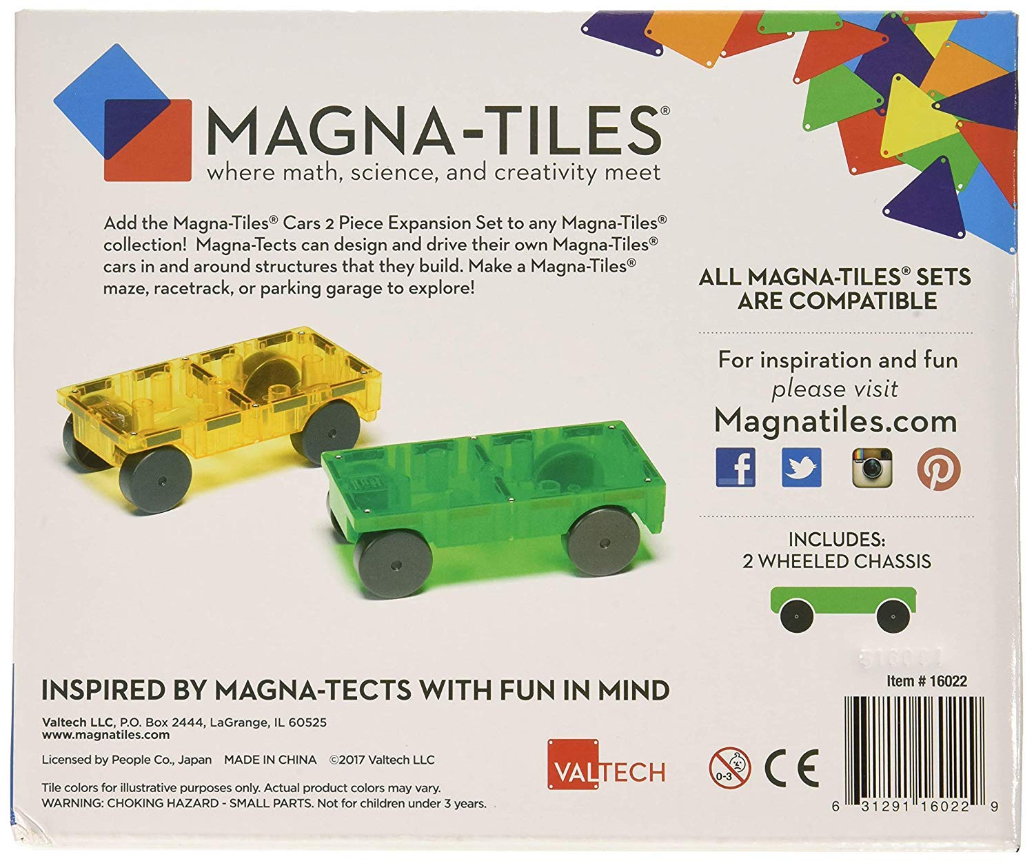 Magna-Tiles 32-Piece Clear Colors Set - The Original, Award-Winning Magnetic Building Tiles - Creativity and Educational - STEM Approved Bundled 2-Piece Car Expansion Set by Magna-Tiles (Image #7)
