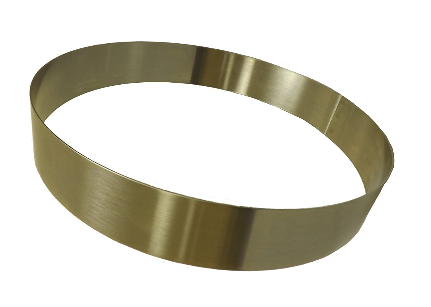 Allied Metal CRS4138 Stainless Steel Cake Ring with Smooth Deburred Edge, 4 by 1-3/8-Inch Allied Metal Spinning Corporation