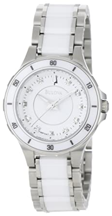 7043ca054 Image Unavailable. Image not available for. Color: Bulova Women's 98P124  Substantial Ceramic & Stainless Steel Watch