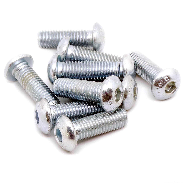 10/mm x 30/mm hexagonal Socket bot/ón cabeza perno en forma de c/úpula acero, 10/unidades de tornillo M10/ //–/