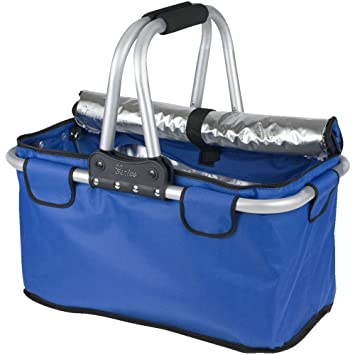 Genius 14115 Panier d'achat thermique Tissu/Aluminium Bleu 48 x 29 x 7 cm Ox9IL