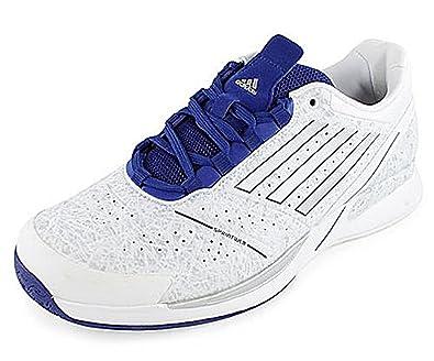 buy popular 1e47e 9eb1c adidas Men s Adizero Feather II Tennis Shoes White White