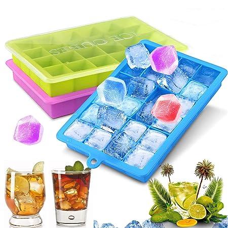 Bandejas para cubitos de hielo, 3 unidades, bandeja de hielo de ...