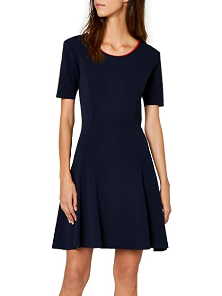 Tommy Jeans Mujer Essential Fitflare vestido Azul (Black Iris 002) X-Small