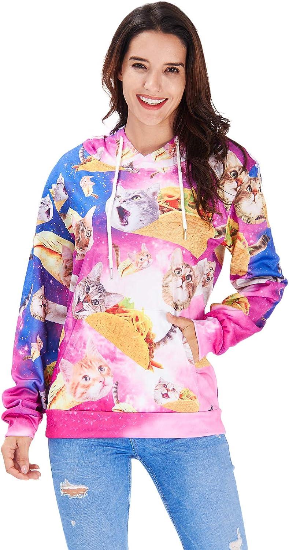Hoodie 3D Kapuzenpulli Herren Damen Lustige Gedruckte Graphic Pullover Hoodies Sweatshirts Drawstring Taschen mit Samt Plus Futter RAISEVERN Grafik Hoodie
