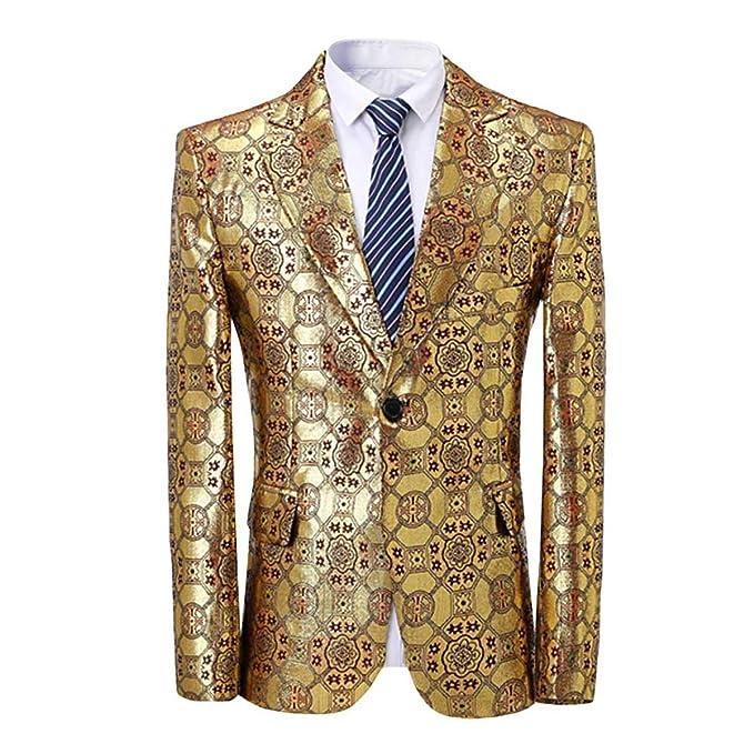 Amazon.com: Blazer - Chamarra de vestir para hombre con ...