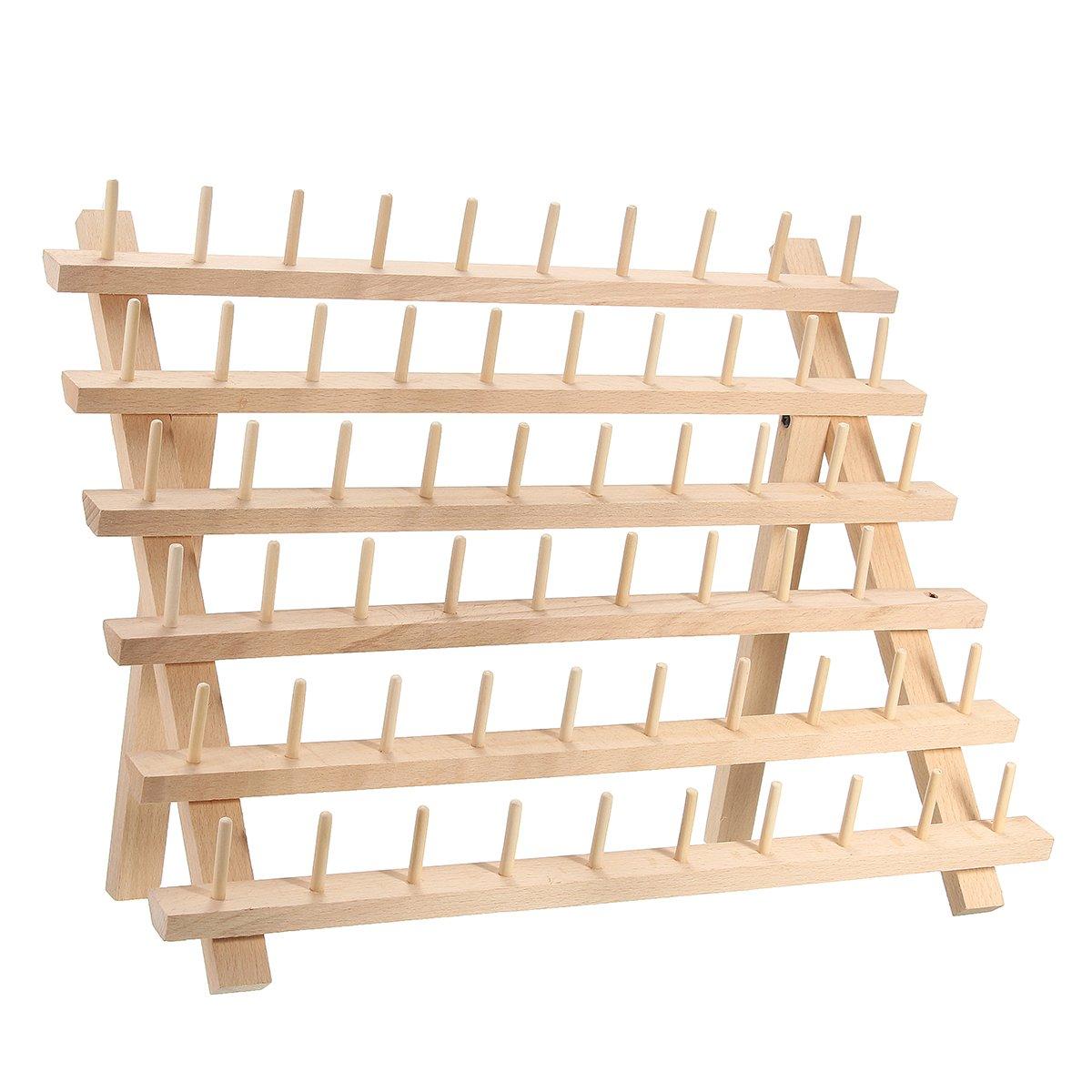 KINGSO 60 Spool Wooden Thread Rack and Organizer for Sewing Quilting Embroidery by KingSo