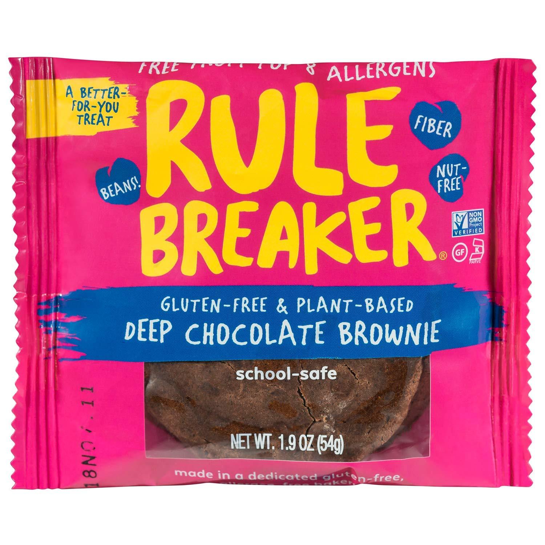 Rule Breaker Eight Packs, 8 Brownies, Healthy and Unbelievably Delicious, Vegan, Gluten Free, Nut Free, Allergen Friendly, Kosher (2/4ct packs) by Rule Breaker (Image #3)