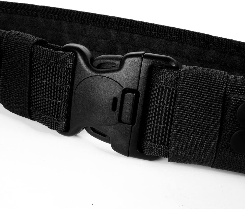 LUUFAN Cintur/ón Resistente Militar Ajustable de la Correa t/áctica de la Correa con la Hebilla del Lanzamiento r/ápido para la Actividad al Aire Libre
